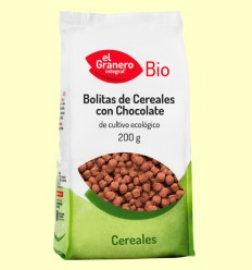 Boletes de Cereals amb Xocolata Bio - El Granero - 200 grams