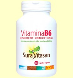 Vitamina B6 - Sura Vitasan - 60 càpsules