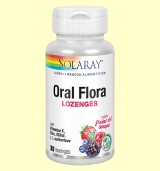 Oral Flora - Boca saludable - Solaray - 30 comprimits masticables