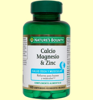 Calci magnesi & zinc - Nature 's Bounty - 100 càpsules