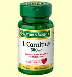 L-Carnitina 500 mg - Nature 's Bounty - 30 càpsules