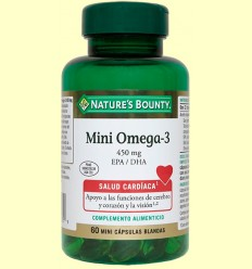 Mini omega 3 450 mg EPA / DHA - Nature 's Bounty - 60 càpsules
