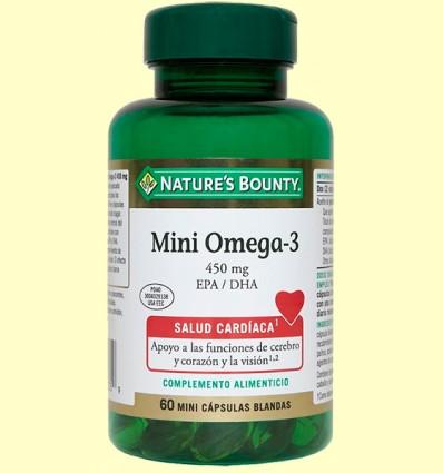 Mini omega 3 450 mg EPA / DHA - Nature 's Bounty - 60 càpsules