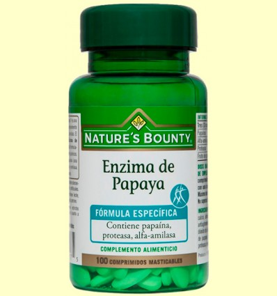 Enzim de papaia - Nature 's Bounty - 100 càpsules