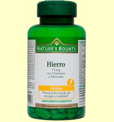 Ferro 15 mg amb Vitamines i Minerals - Nature 's Bounty - 100 comprimits