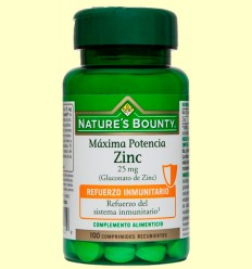 Zinc 25 mg - Nature 's Bounty - 100 comprimits