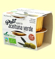 Paté Vegetal d'Oliva Verda Bio - Soria Natural - 100 grams