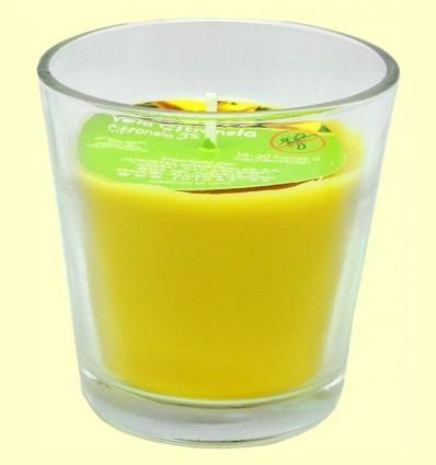 Espelma en got vidre de citronela - Monty - 7 cm