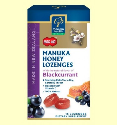 Caramels de Mel de Manuka MGO 400 + amb Groseller Negre - Manuka World - 65 grams