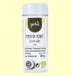 Pebre vermell picant Eco - Yerbal -  40 grams