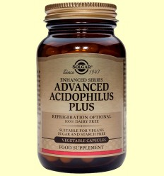 Acidophilus Plus Avançat - Digestiu - Solgar - 120 càpsules vegetals