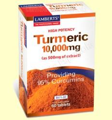 Cúrcuma 10.000 mg - Lamberts - 60 tabletes