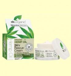 Crema Rescat 24h d'Oli de Cànem - Dr.Organic - 50 ml