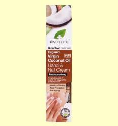 Crema per a Mans i Ungles d'Oli de Coco Bio - Dr.Organic - 100 ml