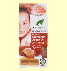Sistema Anti Edat amb Cèl·lules Mare d'Oli d'Argan Marroquí Bio - Dr.Organic - 30 ml
