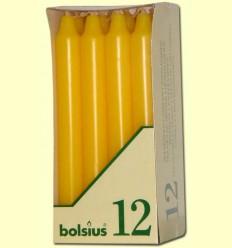 Veles Bugia - Bolsius - Color Groc - 12 espelmes