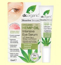 Sèrum Contorn d'Ulls d'Oli d'Cànem Bio - Dr.Organic - 15 ml