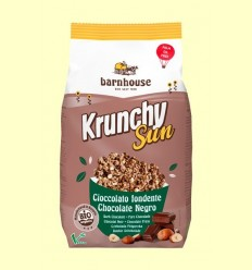 Krunchy Sun Xocolata Negre i Avellana Bio - Barnhouse - 375 grams