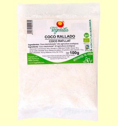 Coco Ratllat Bio - Vegetalia - 100 grams