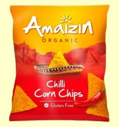 Corn Chips Blat de moro Chilli Bio - Amaizin - 75 grams *