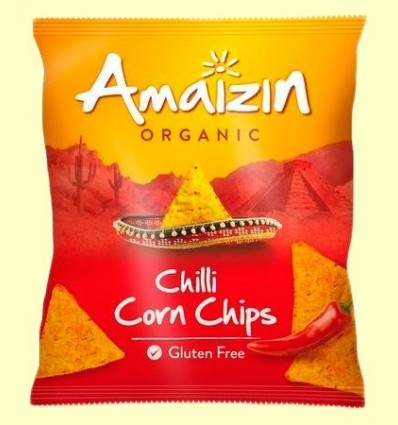 Corn Chips Blat de moro Chilli Bio - Amaizin - 75 grams
