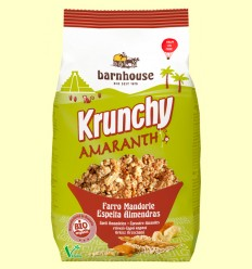 Krunchy de Amaranto amb Espelta, Ametlles i Anacards - Barnhouse - 375 grams