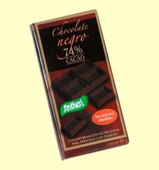 Xocolata Negre el 74% Cacau sense Sucres - Santiveri - 80 grams