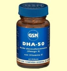 DHA 50 - GSN Laboratorios - 60 perles