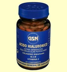 Àcid Hialurònic + Col·lagen hidrolitzat + M.S.M + Vitamina C - GSN Laboratorios - 60 comprimits