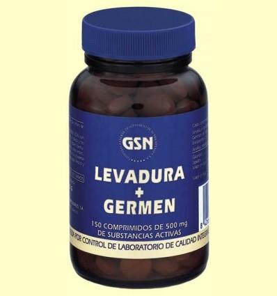 Llevat de Cervesa + Germen de Blat - GSN Laboratorios - 150 comprimits