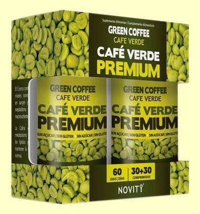 Cafè Verd Premium - Novity - 30 + 30 comprimits