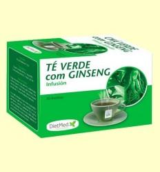 Te Verd amb Ginseng Infusió - DietMed - 20 bossetes