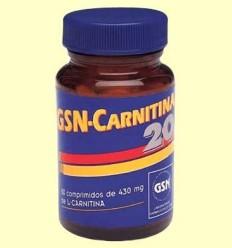 GSN Carnitina 20 - GSN Laboratorios - 80 comprimits