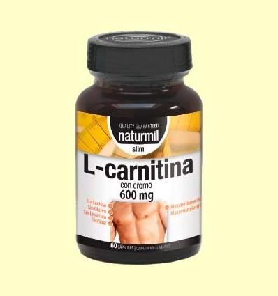 L-Carnitina amb Crom 600mg - Naturmil - 60 càpsules