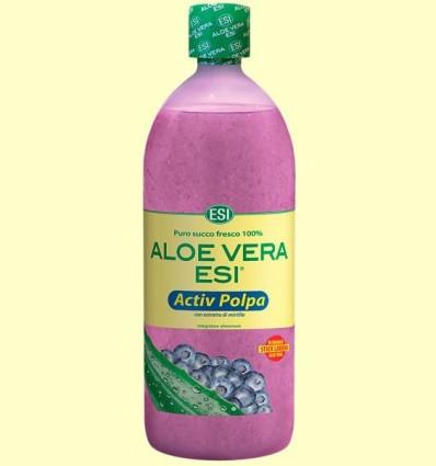 Suc d'Aloe Vera Polpa Activa amb Extracte de Nabiu - Laboratorios ESI - 1 litre