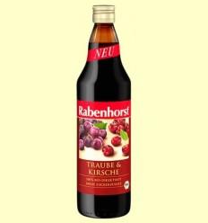 Suc de Cirera a Raïm Roja Eco - Rabenhorst - 750 ml
