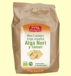 Minicrackers Blat Espelta Alga Nori i Tamari Eco - Espiga Biológica - 150 grams