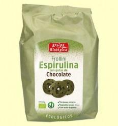 Frollini espirulina amb gotes de Xocolata Eco - Espiga Biológica - 150 grams