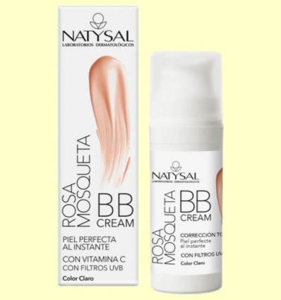 Rosa Mosqueta BB Cream - Color Clar - FPS 20 - Natysal - 30 ml