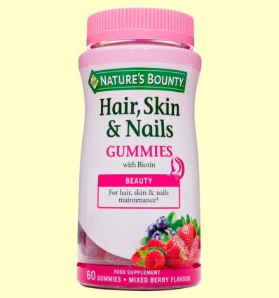 Pelo, Pell i Ungles Gummies - Nature's Bounty - 60 llepolies