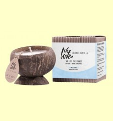 Vela de Cera de Soja Cocconut Candle Artic White - We love the planet - 1 unitat