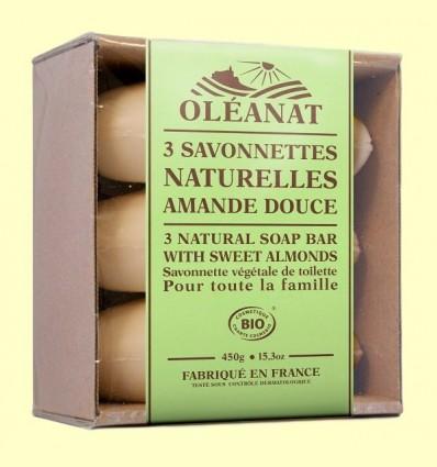 Trio Sabons Bio Ametlles Dolços - Oléanat - 450 grams