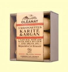 Trio Sabons Bio Argan i Karité - Oléanat - 450 grams