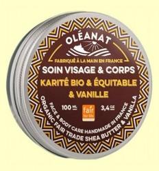 Mantega de Karité amb Vainilla Bio i Comerç Just - Oléanat - 100 ml