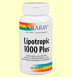 Lipotropic 1000 Plus - Solaray - 100 càpsules