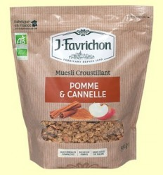 Muesli Crunchy de Poma i Canyella Bio - Favrichon - 500 grams