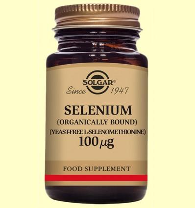Seleni 100 gu sense llevat - Solgar - 100 comprimits