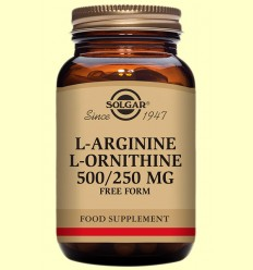 L-Arginina / L-Ornitina - Aminoàcids - Solgar - 50 càpsules *