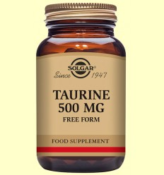 Taurina 500 mg - Aminoàcids - Solgar - 50 càpsules
