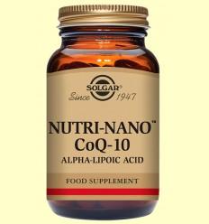 Nutri Nano Coenzim Co Q-10 amb Àcid alfa lipoic - Solgar - 60 càpsules